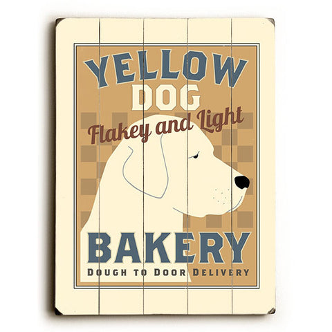 Yellow Dog Bakery by Artist Michael Dexter Wood Sign
