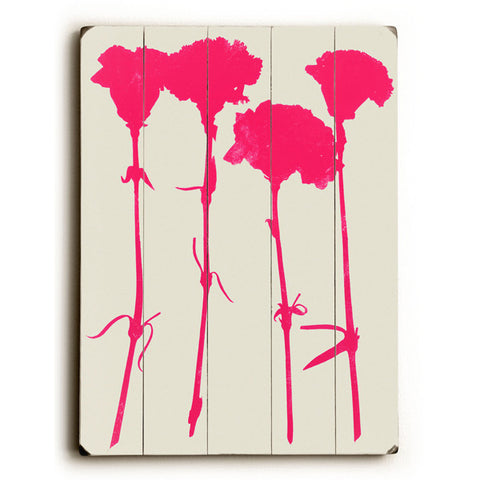 Carnations by Artist Garima Dhawan Wood Sign