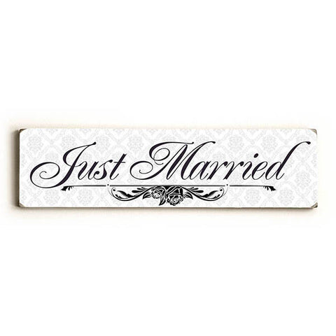 Just Married Wood Sign