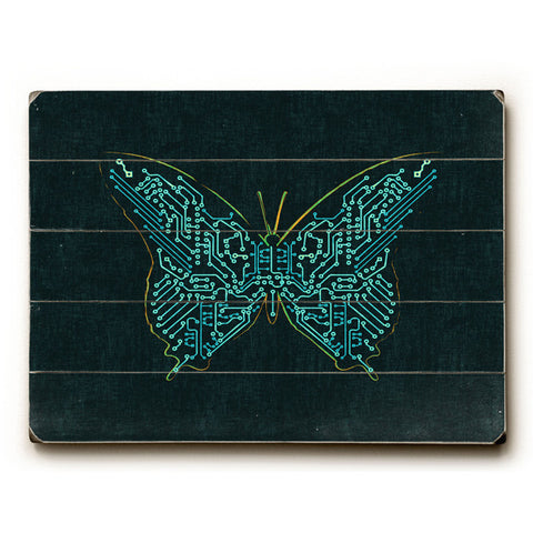 Butterfly by Artist Budi Satria Wood Sign