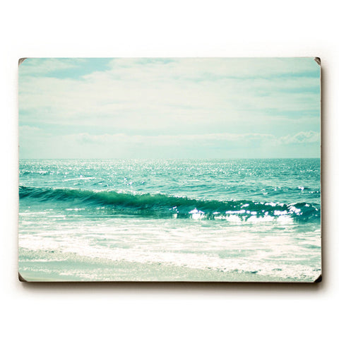 Great Green Sea by Artist Lisa Argyropoulos Wood Sign