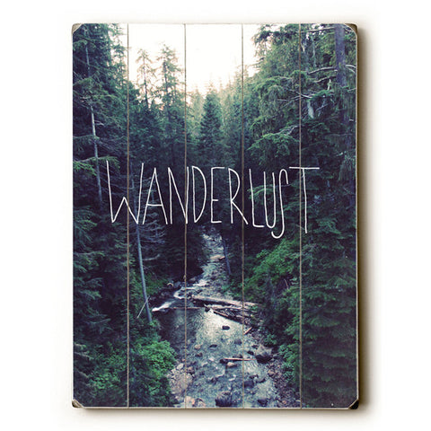 Wanderlust by Artist Leah Flores Wood Sign