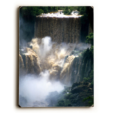 Iquazu Falls by Artist Eloise Patrick Wood Sign