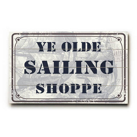 Sailing Shoppe Wood Sign