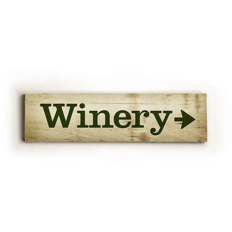Winery Directional Arrow Wood Sign