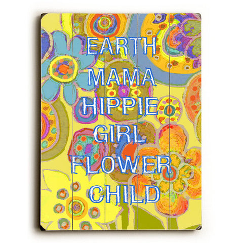 Earth Mama by Artist Lisa Weedn Wood Sign