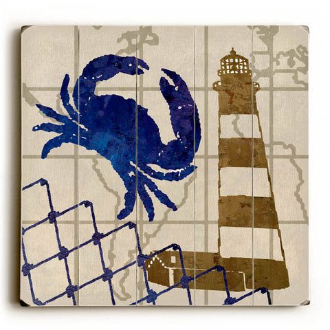 Lighthouse by Artist Karen Williams Wood Sign