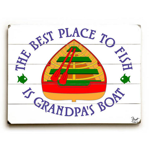 Grandpa's Boat Wood Sign