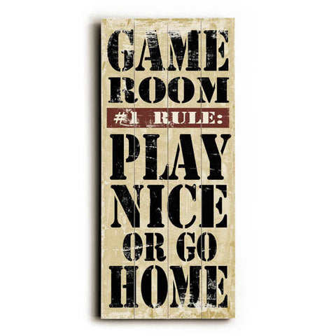 Game Room Rules by Artist Misty Diller Wood Sign