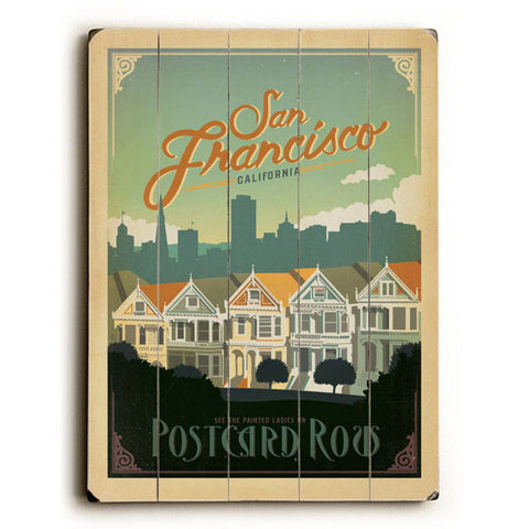 San Francisco California by Anderson Design Group Wood Sign