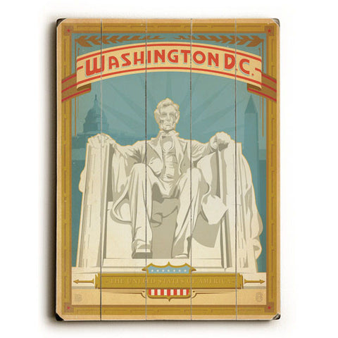 Washington DC by Anderson Design Group Wood Sign