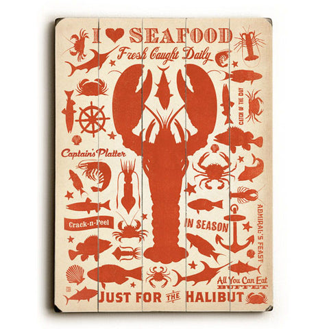 I Love Seafood by Anderson Design Group Wood Sign