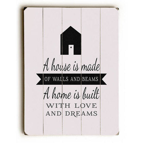 Built With Love And Dreams by Artist Abbie Smith Wood Sign