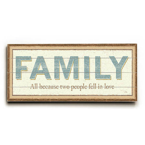 Family by Artist Alain Pelletier Wood Sign