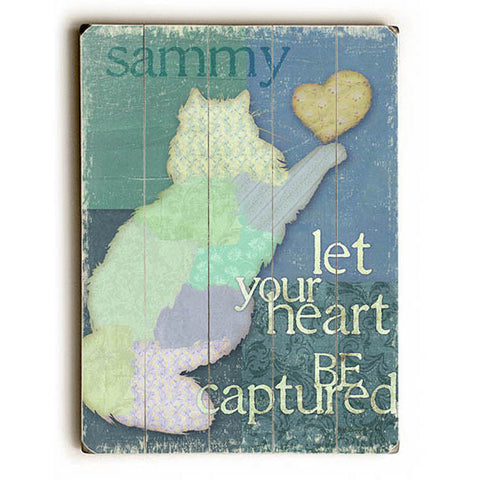 Personalized Let Your Heart Be Captured by Artist Kate Ward Thacker Planked Wood Sign Wall Decor Art