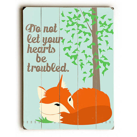 Troubled Hearts by Artist Ginger Oliphant Wood Sign