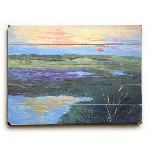 Colorful Marsh by Artist Carol Schiff Wood Sign