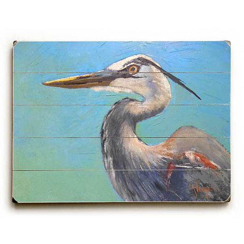 Great Blue Heron by Artist Carol Schiff Wood Sign