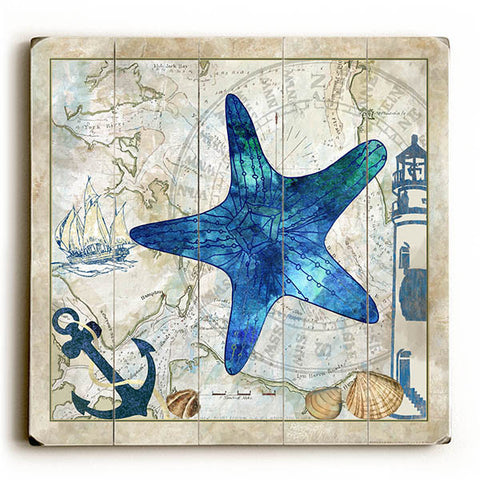 Star Fish by Artist Jill Meyer Wood Sign