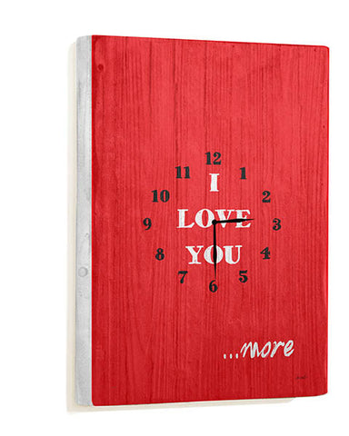 I Love You Wall Clock by Artist Lisa Weedn