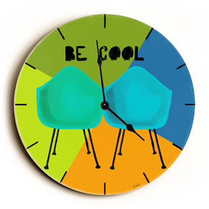 Be Cool Unique Wall Clock by Artist Lisa Weedn