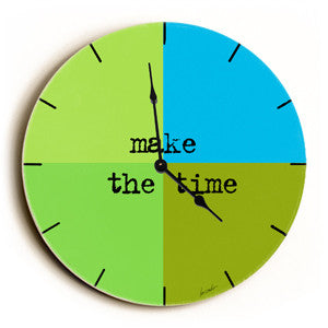 Make The Time Unique Wall Clock by Artist Lisa Weedn