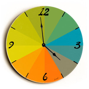Color Graph Unique Wall Clock by Artist Lisa Weedn