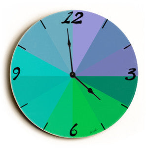 Cool Color Graph Unique Wall Clock by Artist Lisa Weedn