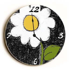 Daisy Unique Wall Clock by Artist Lisa Weedn