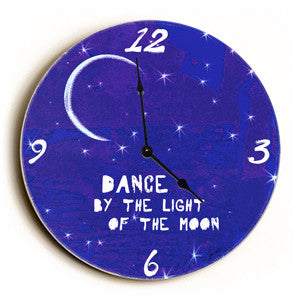 By The Light Of The Moon Unique Wall Clock by Artist Lisa Weedn