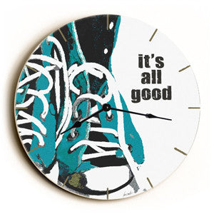 It's All Good Unique Wall Clock by Artist Lisa Weedn