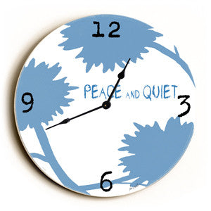 Peace And Quiet Unique Wall Clock by Artist Lisa Weedn
