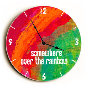 Somewhere Over The Rainbow Unique Wall Clock by Artist Lisa Weedn