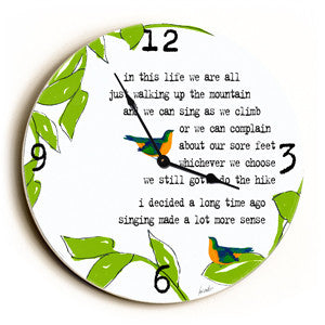 In This Life Unique Wall Clock by Artist Lisa Weedn