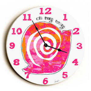 On My Way Unique Wall Clock by Artist Lisa Weedn