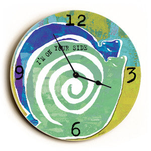 On Your Side Unique Wall Clock by Artist Lisa Weedn