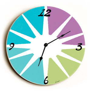 Compass Unique Wall Clock by Artist Lisa Weedn