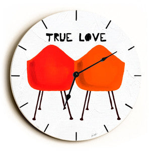 True Love Unique Wall Clock by Artist Lisa Weedn
