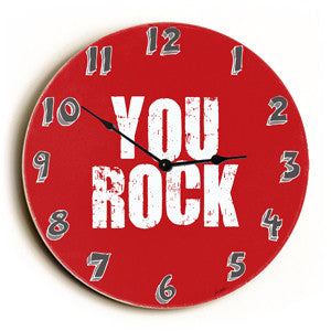You Rock Unique Wall Clock by Artist Lisa Weedn