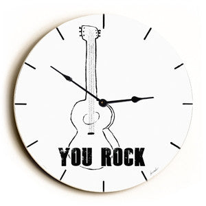 Rocker Unique Wall Clock by Artist Lisa Weedn