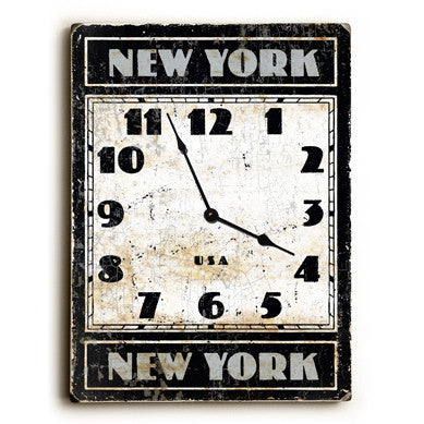 New York NY Unique Wall Clock by Artist Peter Horjus