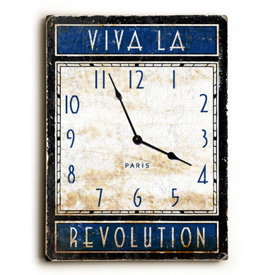 Viva La Revolution Paris Unique Wall Clock by Artist Peter Horjus