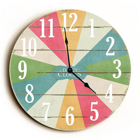 Multi Color Carnival Unique Wall Clock by Dickery Dock