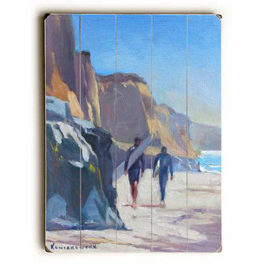 San Diego Surfers by Artist Wade Koniakowsky Wood Sign