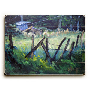 Mending fences by Artist Carol Schiff Wood Sign