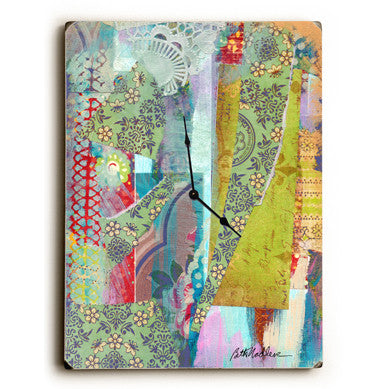 Fabric Unique Wall Clock by Artist Beth Nadler