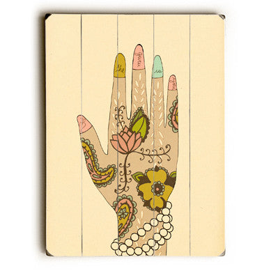 Palm Reader by Artist Lisa Barbero Wood Sign