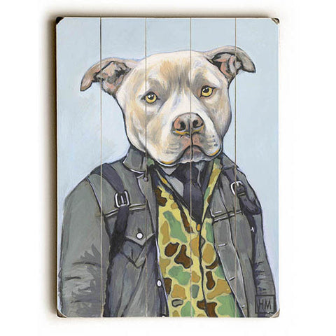 Jake by Artist Heather Mattoon Wood Sign