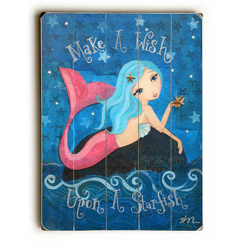 Make A Wish by Artist Heather Rushton Wood Sign