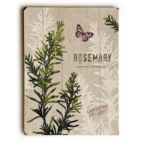 Organic Rosemary by Studio Mousseau Wood Sign